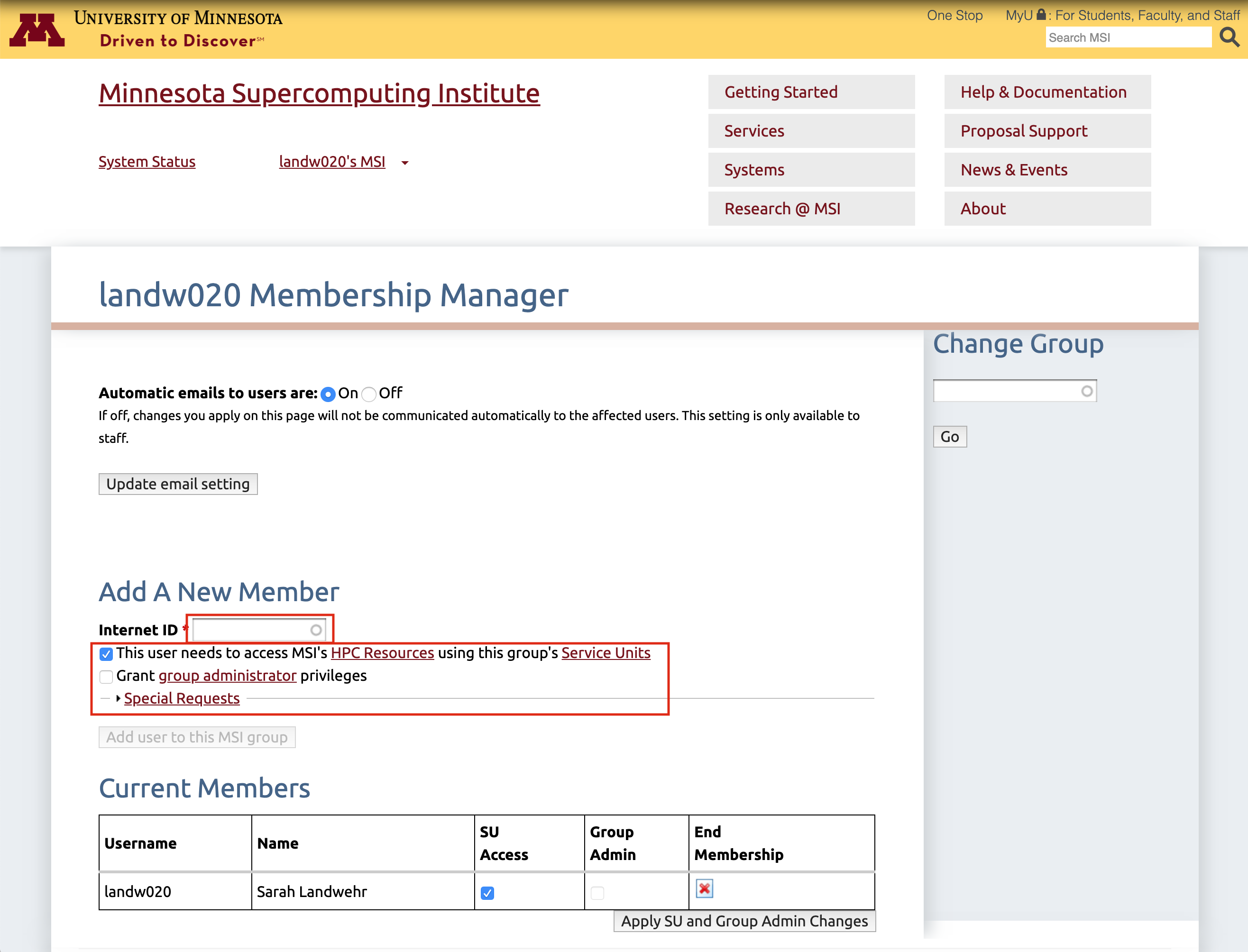 How do I manage my MSI account(s)? | The Minnesota