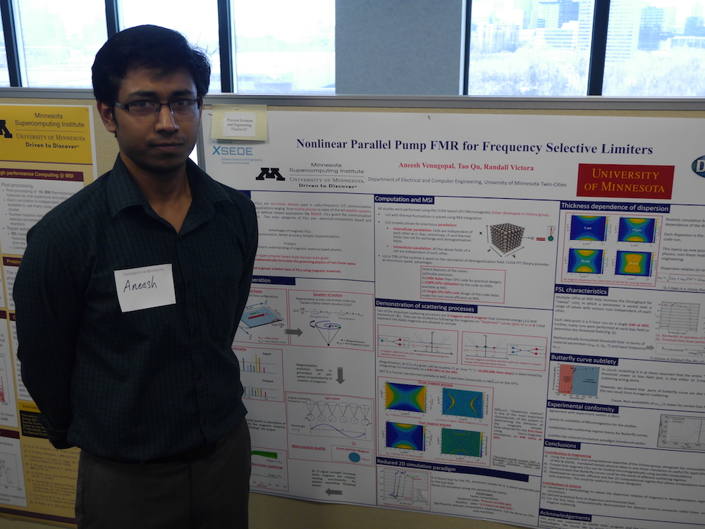 photo of Aneesh Venugopal with poster
