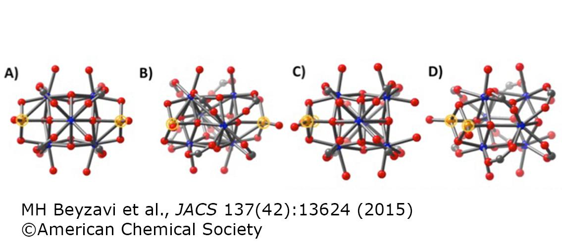 ball-and-stick representations of molecules