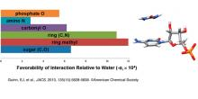 graph of interaction relative to water